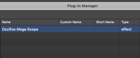 Select Plug-In